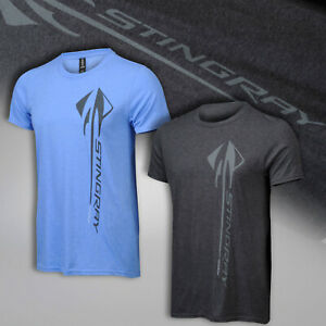2014-2019 Corvette C7 Men's Vertical Stingray Logo T-Shirt 637635