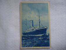 Vintage RMSP Ocean cruising steamer Araguaya ship Royal mail postcard