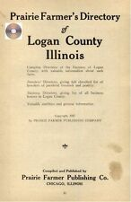 Logan Co Illinois Lincoln IL directory genealogy history farmer's