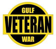 Gulf War Veteran Hard Hat Decal / Label / Motorcycle Helmet Sticker / USMC Army