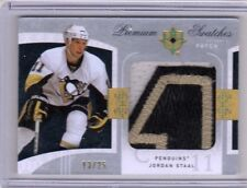 JORDAN STAAL 09/10 UD Upper Deck Ultimate Premium Swatches 3-color Patch # 13/25
