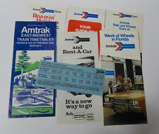 Lot of 8 AMTRAK Timetables & Promotions: 1974 to 1976 Midwest, California, etc