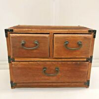 Japan TANSU chest of drawers box case antique furniture 35x21.8x38cm