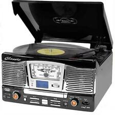 VINTAGE 50s VINYL RECORD PLAYER CD MP3 HIFI STEREO SOUND SYSTEM USB SD TURNTABLE