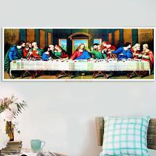 DIY The Last Supper 5D Diamond Rhinestone Cross Stitch Painting Decor 80*30cm