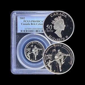 2002 Canada 50 Cent (Silver) - PCGS PR69 DCAM - Top Pop 🥇 British Columbia