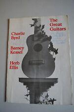 More details for the great guitars charlie byrd/barney kessel/herb ellis programme signed