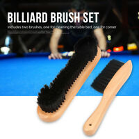 2pcs Pool Billiard Snooker Table Brush Hair Sweep Rail Clean Tools Cleaning Kit