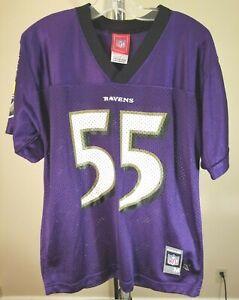 Baltimore Ravens NFL Rebook Classic Purple Terrell Suggs #55 Youth Medium Jersey