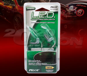 PILOT GREEN LED ADJUSTABLE MINI LIGHT FORS INTERIOR ACCENT LIGHT FOR JEEP GEO