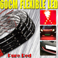 "4X 24"" 60CM Car Motor Flexible LED Underbody Light Strip Bar Red Waterproof 12V"