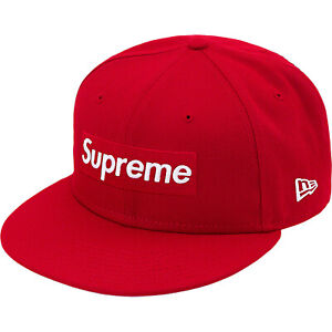 Supreme New Era Champions Box Logo Red Hat Size 7 1/4