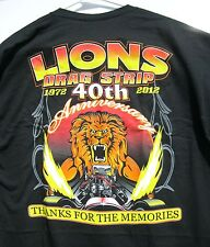 Tom 'The Mongoose' McEwen Lions Drag Strip 40th Anniversary T Shirt Large