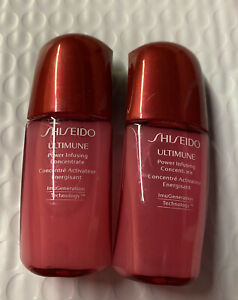 Lot 2 SHISEIDO Ultimune Power Infusing Concentrate Travel Size .33oz each, New