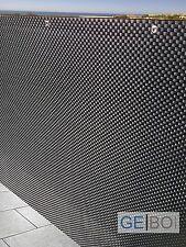 Rattan Sichtschutz| Balkonblende|Sichtschutz 90 cm x 3 m schwarz| 0,9 x 3 m