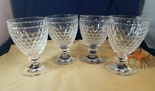 4 Boston Wine Glasses Villeroy Boch Crystal 8 oz Goblets