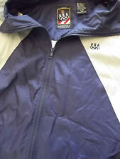 Vintage JCPenney USA Olympics Blue Gray White Jacket Windbreaker Size XL