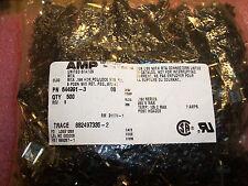 QTY (500) 644991-3 AMP 3 POSITION MTA-156 FRICTION LOCK HEADER W/O #2 PIN 3.96mm