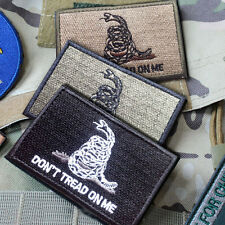 3 PCS DON'T TREAD ON ME TACTICAL MILITARY USA ARMY US MORALE BADGES PATCH