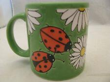 Daisies with Lady Bugs on Green Mug 12oz Waechtersbach Germany
