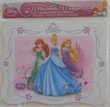 Placemats DISNEY PRINCESSES Ariel Cinderella Party Birthday Supplies 12 Pack S1