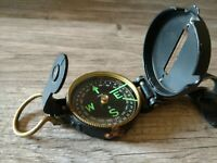 Vintage Engineer Lensatic Compass Leather Strap