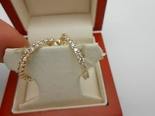 Large Gorgeous 14k Solid Yellow Gold Inside Outside Diamond Hoop Earrings 1.50ct