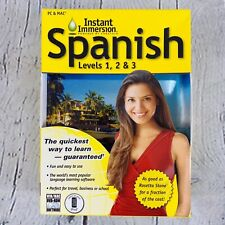 Instant Immersion Spanish Levels 1, 2 & 3 for MAC PC Language Learning Software