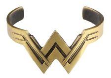Wonder Woman W Antique Bronze Style Cuff Bracelet