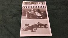 Lotus 49 Ford F-1 Jim Clark Tamiya 1/12 # 12012 Instructions(Japanese)