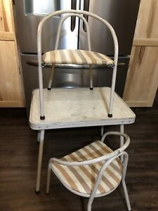 Vintage 1960's Retro Childs Play Table 2 Chairs Earl Randolph