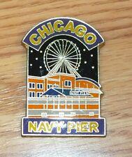 Chicago Navy Pier Collectible Souvenir Metal Pin Style Magnet **READ**