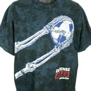 Defense Rules Mazamba Soccer T Shirt Vintage 90s All Over Print Made In USA XL