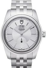 100% AUTHENTIC NEW TUDOR GLAMOUR DOUBLE DATE SILVER DIAL MEN'S WATCH 5700