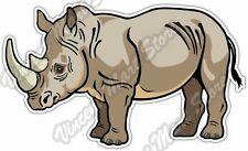 "Rhinoceros Rhino Africa Animal Car Bumper Window Vinyl Sticker Decal 5""X4"""