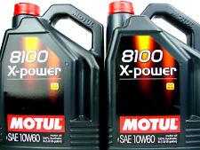 Aceite de Motor 10W60 10Liter Motul 8100 X-Power Alto Rendimiento 10W-60 Diesel