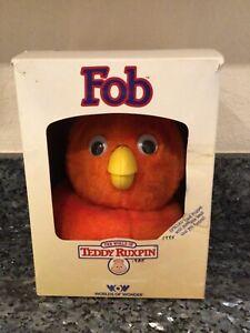 Teddy Ruxpin Orange Fob Hand Puppet + Box Worlds of Wonder 1985