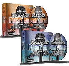 Vocal-Star Karaoke Party hits 1 y 2 Conjunto de Disco CDG CD + G - 300 canciones superior