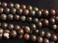 "8mm - Brown Agate Round Beads 15.5"" Strand UK EBAYER"