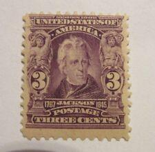 USA Mint 3c JACKSON 302 F/VF OG MNH 1902 very nice CV $180.00- free shipping