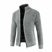Men's Coat Casual Pullover Sweater Knitwear Thicken Winter Warm Zipper