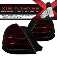 """CREE LED BACKUP {2 BULB MODEL} 98-11 Ford Crown Victoria """"RED SMOKE"""" Tail Lights"""