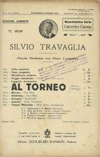 Spartito Al Torneo Marcia per Orchestra di Silvio Travaglia Fuori Commercio 1927