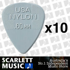10 x Jim Dunlop Nylon Standard Greys .60mm Guitar Picks Plectrums 0.60 Grey