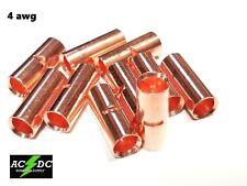 4 Gauge Bare Copper Butt Connector 2 Pk Crimp Terminal Awg Battery