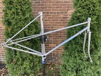 Miyata Ninety Triple Butted Mangaloght 19.5in Size Grey Bike Frame Includes Fork