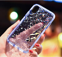Clear Phone Cover iPhone 11 (Crystal Clear Shockproof with Diamond Design Case)