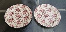 2 Wood & Sons Colonial Rose Pink Dinner Plates 11""