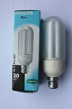 Philips BC B22 SL-E Pro Electronic Prismatic Cover 20w Low Energy Bulb 1200lm