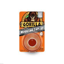 Gorilla Glue Heavy Duty Mounting Tape Double Sided Weatherproof Crystal Clear